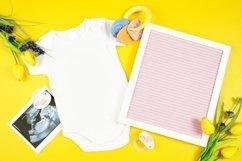 Springtime Baby Onesie Bodysuit Letterboard Mockup Photo Product Image 3