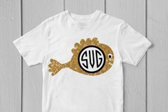Cute Fish - Animal SVG EPS DXF PNG Monogram Cutting Files Product Image 3