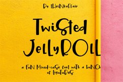 Twisted Jellyroll, a quirky mixed-case font with ligatures Product Image 1