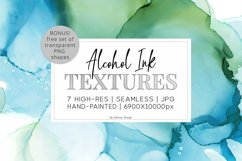 7 Huge Seamless Green Alcohol Ink Textures Product Image 1