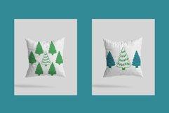 Christmas tree svg. Christmas tree lights Papercut Silhouett Product Image 2
