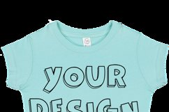 Toddler Gilrs Flat Jersey T Shirt Mockups - 17 Product Image 5