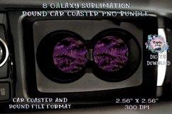 Galaxy  Sublimation  Car Coaster  Round Design Product Image 2