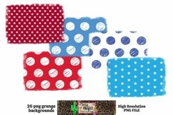 Patriotic July 4th Grunge Backgrounds for Dye Sublimation Product Image 5