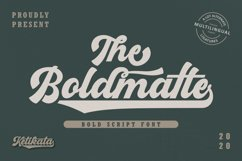 Boldmatte Bold Script Font Product Image 1