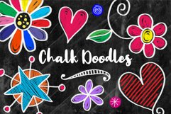 Hand Drawn Cute Chalk Board Doodles Product Image 1
