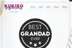 Best Grandad Ever SVG - Father's day - Grandfather cut file Product Image 2