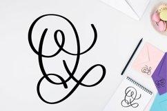 Web Font Monogram Letters Font - Swoosh-y Beautiful Hand Let Product Image 2