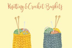 Watercolor Knitting and Crochet Clipart Product Image 4