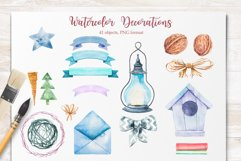 Winter. Watercolor collection. Product Image 16
