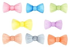 Cute Bows set, Bows ClipArt, Bows Watercolor Product Image 1