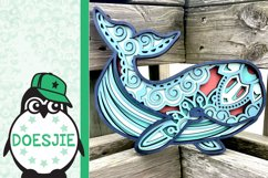 Whale SVG layered 3d multi layer mandala sea animal nautical Product Image 6