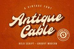 Antique Cable | Bold Script Product Image 1