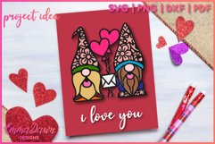 GUS & GINO THE GNOME LOVERS SVG VALENTINES DAY MANDALA Product Image 7