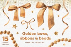 Golden Bows, Ribbons & Beads Product Image 1