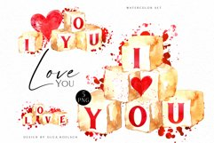 Watercolor valentine clipart, Cute valentine's cards DIY Product Image 1