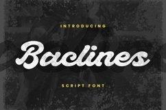 Web Font Baclines Font Product Image 1