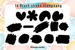Paint brush stroke stamp , brush stroke stamp, keychain png Product Image 2