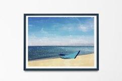 Boat And Sea - Watercolor - Wall Art - Digital Print Product Image 4