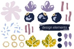 Blueberry paper cut style patterns Product Image 3