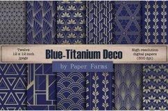 Blue titanium Art Deco backgrounds Product Image 1