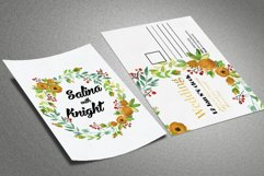 Floral Wedding Postcard Product Image 2
