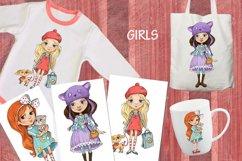 cartoon girls prints Product Image 1