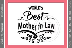 Mother's Day SVG, World's Best Mother in Law Product Image 2