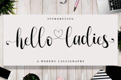 Hello Ladies - Calligraphy Font Product Image 1