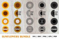 Sunflower SVG, Sunflower PNG, Sunflower Monogram SVG Bundle Product Image 1