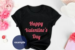 Valentine's day Black t-shirt Mockup PSD, White T-shirt mock Product Image 3