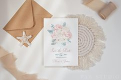 White Pink Flowers Winter Leaves Wedding Bride Clipart Product Image 5