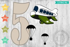 Airforce 5th birthday, Airplane svg by Julies Homemade Jems Product Image 1