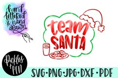 team santa svg - santa cut file Product Image 1