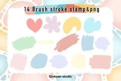 Paint brush stroke stamp , brush stroke stamp, keychain png Product Image 1