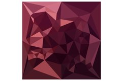 Dark Raspberry Red Abstract Low Polygon Background Product Image 1