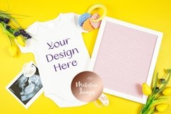 Springtime Baby Onesie Bodysuit Letterboard Mockup Photo Product Image 2