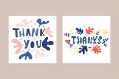 Thank you card Bundle. Thank you card clipart Product Image 2