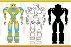 Funny robots. Coloring. Product Image 2