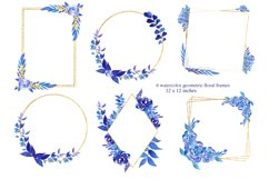 Winter roses wreaths and frames,Watercolor Flowers Clipart Product Image 5