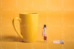 Surrealism design. Girl holding a tea bag in his hand. Product Image 1