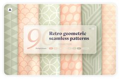 Retro geometric seamless patterns collection Product Image 1