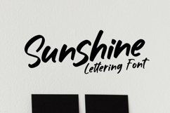 Web Font Sunshine - Lettering Font Product Image 1