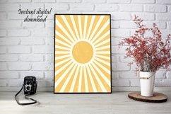 Boho Sun Print Wall Art , Printable Wall Art, Printable Art Product Image 1