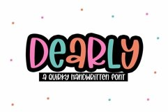 Web Font Dearly - A Quirky Handwritten Font Product Image 2
