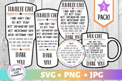 Tumbler Care Card Pack, PNG, Print and Cut, Blue Butterfles Product Image 1