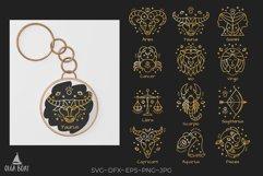 Keychain zodiac keychain bundle svg Zodiac signs svg Product Image 1
