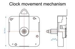 C16 - Laser Cut Wall Clock DXF, Mandala Clock, Wooden Clock Product Image 7