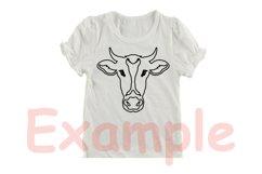 Cow Head Outline SVG, cowboy bull buffalo Boho Farm 770S Product Image 3