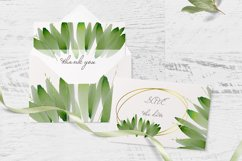 Watercolor Greenery Clipart Wreath Branches For wedding Product Image 3